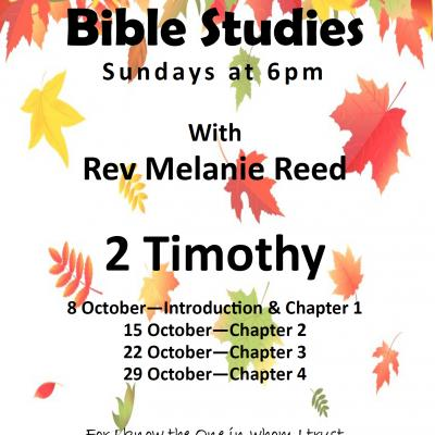 Autumn Bible Studies 2017