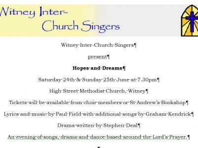 Hopes & Dreams by Witney Interchurch Singers