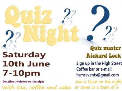 quiz night 10 June