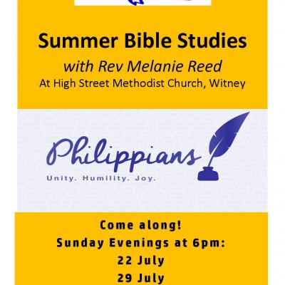 Summer Bible Studies at HSMC - Philippians