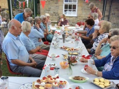 Summer tea and cakes